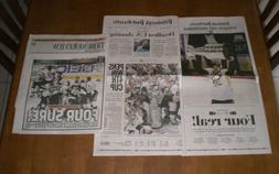 2 2016 PITTSBURGH PENGUINS WIN STANLEY CUP NEWSPAPERS