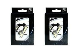 2-PACKS PITTSBURGH PENGUINS PLAYING CARDS,DECK 52 CARDS + 2