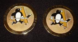2 PITTSBURGH PENGUINS Medallion coin emblem logo insignia ch
