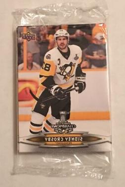 2017 UPPER DECK PENGUINS STANLEY CUP CHAMPIONS 18 CARD SEALE