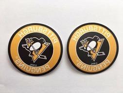 2x Pittsburgh Penguins Round Logo Car Bumper Laptop Vinyl St