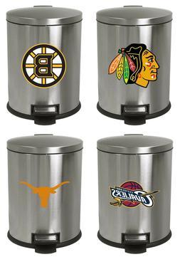 Sports Team Logos 3.1 Gallon Stainless Steel Step Wastebaske