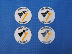 4 Round PITTSBURGH PENGUINS 1992-2001 NHL Hockey Team Logo C