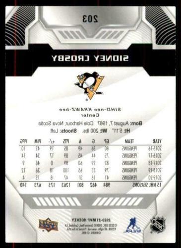 2020-21 UD Script #203 Sidney Crosby - Pittsburgh Penguins