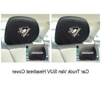 new 2pc nhl pittsburgh penguins automotive gear