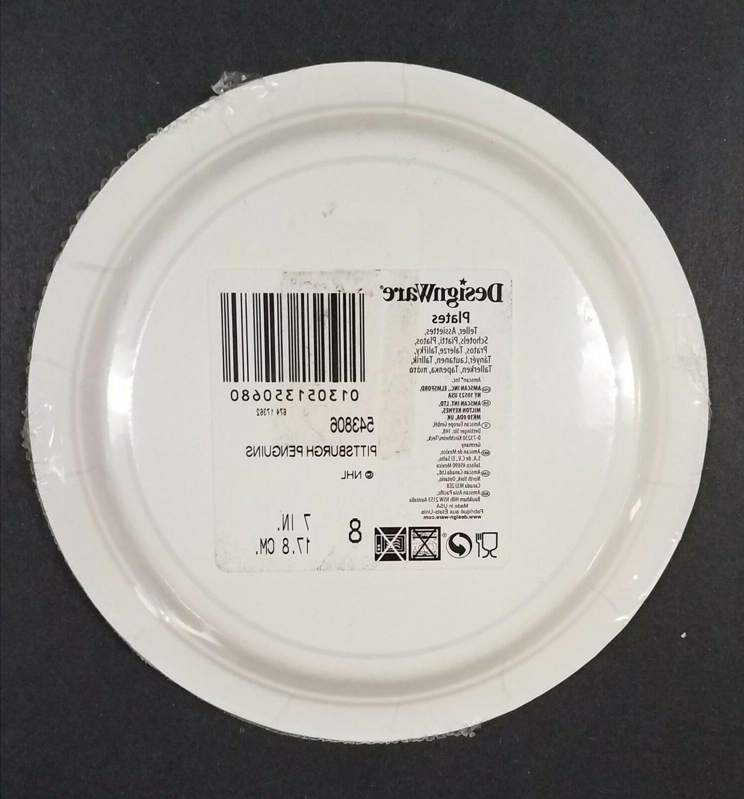 NHL Pittsburgh 7 inch 8 Count - New