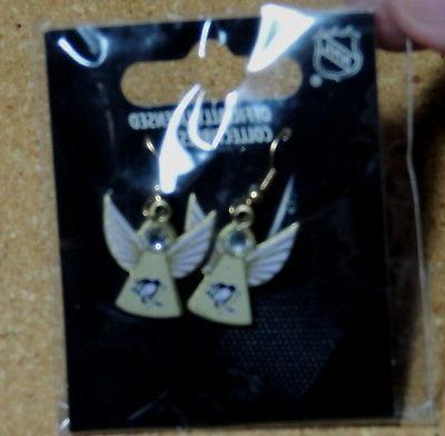 pittsburgh penguins angel earrings