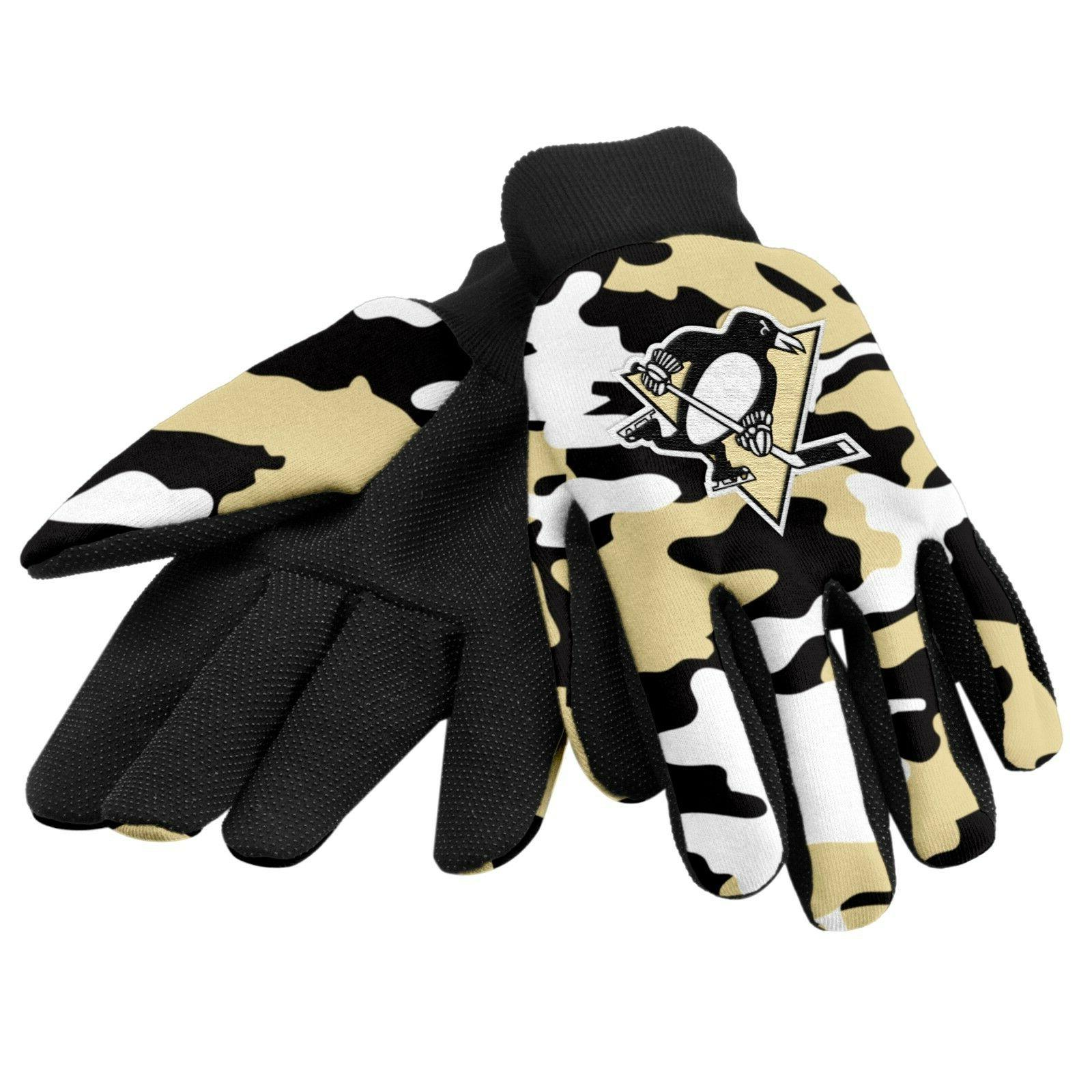 pittsburgh penguins camouflage sports utility gloves work