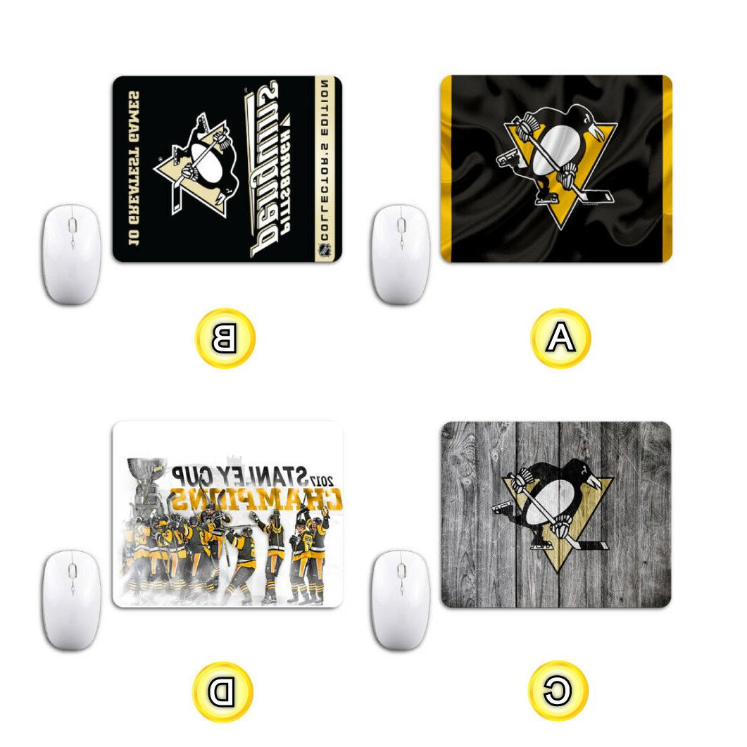pittsburgh penguins mouse mat pad computer notebook