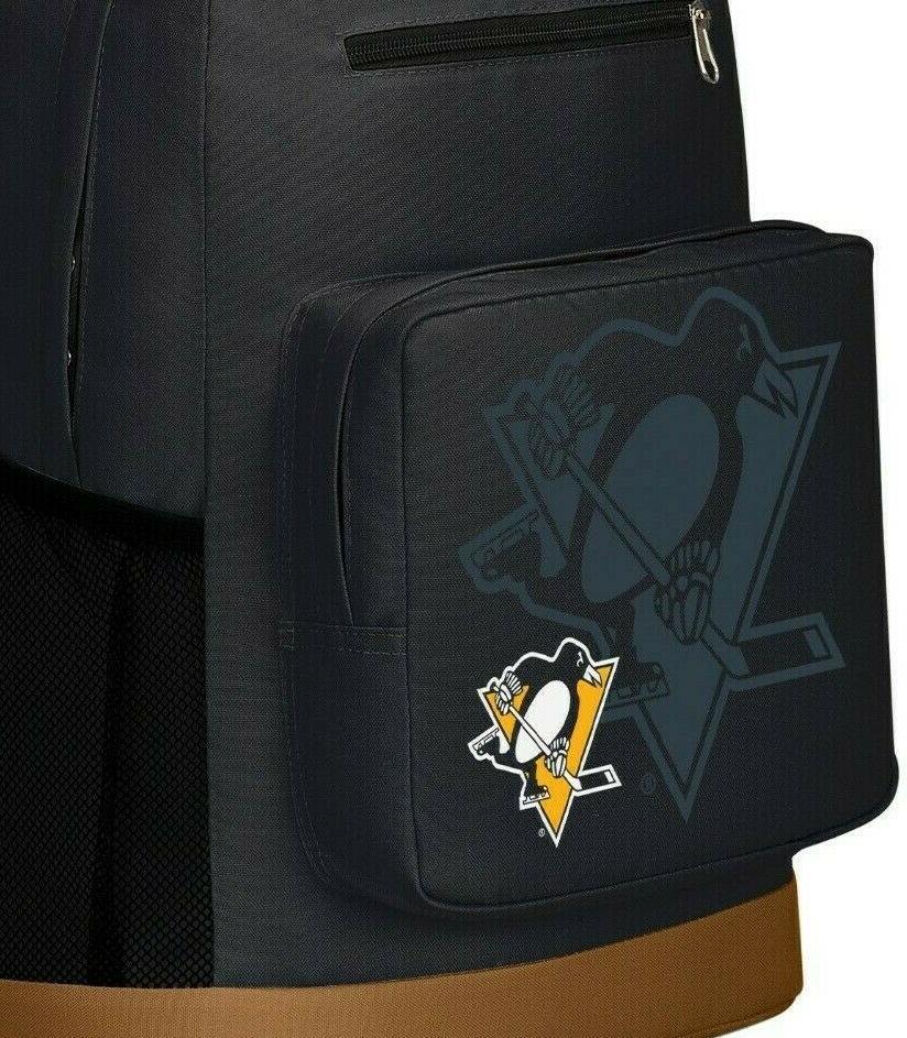 Northwest Penguins Backpack NHL Hockey Fan School BLK-