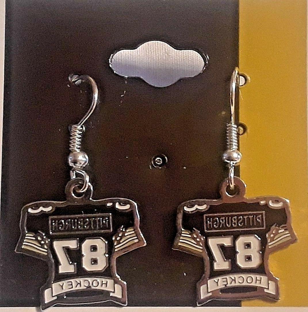 pittsburgh penguins sidney crosby earrings jersey earrings