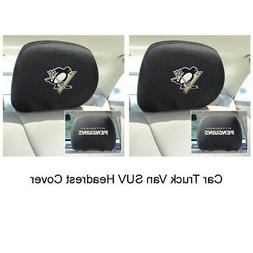 New 2pc NHL Pittsburgh Penguins Automotive Gear Car Truck He