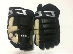 *NEW* CCM HG97 XP Pro Stock Hockey Gloves Black Pittsburgh P