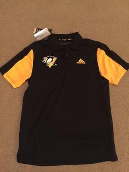 NEW Adidas Men's Pittsburgh Penguins NHL Black Performance P