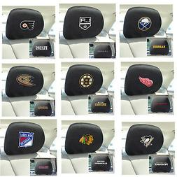 New NHL Pick Your Teams Car Truck Headrest Covers Set - Offi