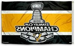 NEW Pittsburgh Penguins NHL 2016 Champion 3x5 Official Indoo