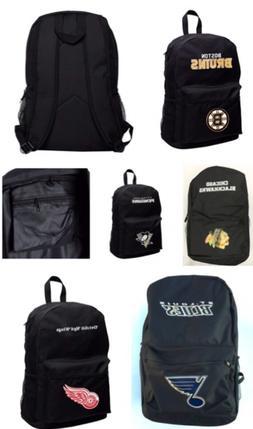 NHL Full Size Student Sprint Black Backpack - Various Teams