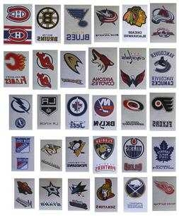NHL Hockey Decal Stickers 2 Stickers per card - Choose from