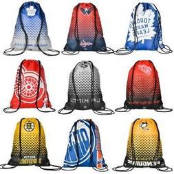 NHL Ice Hockey Drawstring Gym Bag Backpack Sports Bag Pengui