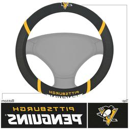 Fanmats NHL Pittsburgh Penguins Embroidered Steering Wheel C