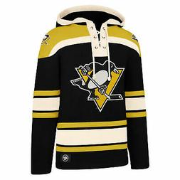 NHL Pittsburgh Penguins 47 Brand Lacer Hoodie Top Sweater Ju