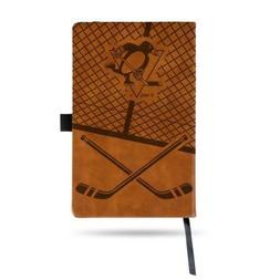 NHL Pittsburgh Penguins Laser Engraved Leather Notebook - Br