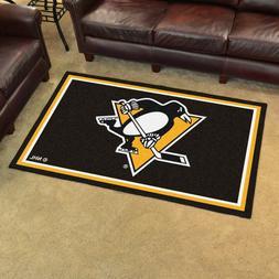 FANMATS NHL Pittsburgh Penguins Nylon Face 4X6 Plush Rug