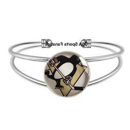 NHL - Pittsburgh Penguins Team Logo Adjustable Bangle Bracel