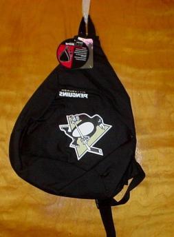 "NWT NHL Pittsburgh Penguins Sling Back Pack 19.5"" x 15"""