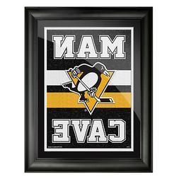 Pittsburgh Penguins 12x16 Man Cave Framed Artwork