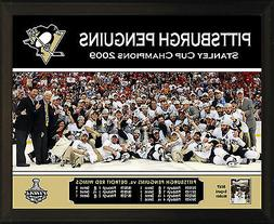 """PITTSBURGH PENGUINS 2009 Stanley Cup Champions 8x10"""" Plaque"""