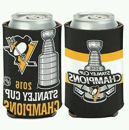 PITTSBURGH PENGUINS 2016 STANLEY CUP CHAMPION NEOPRENE CAN C