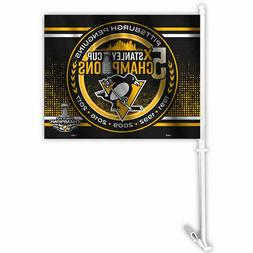 Pittsburgh Penguins 2017 Stanley Cup Champions Car Flag and