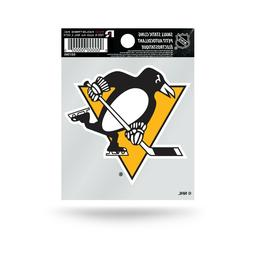 "Pittsburgh Penguins 3"" x 4"" Small Static Cling Truck Car Win"