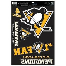 "PITTSBURGH PENGUINS 4 PIECE MULTI-USE DECALS 11""X17"" WINDOWS"