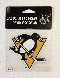 "Pittsburgh Penguins 4"" x 4"" Logo Truck Car Window Die Cut De"