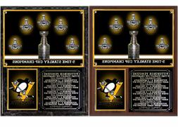Pittsburgh Penguins 5-Time Stanley Cup Champions Photo Plaqu