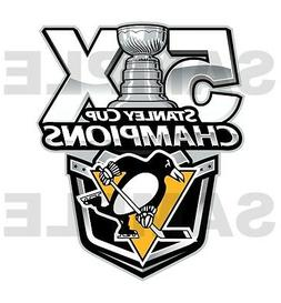 Pittsburgh Penguins 5 Times Stanley Cup Champions  Die Cut D