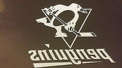 Pittsburgh Penguins 5 x 5 White Car Decal Sticker