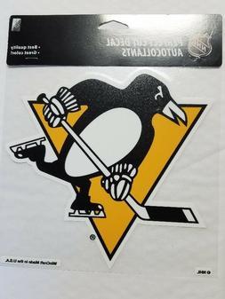 """Pittsburgh Penguins 8"""" x 8"""" Team Logo Truck Car Window Die C"""