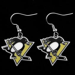 Pittsburgh Penguins - NHL Team Logo Dangler Earrings