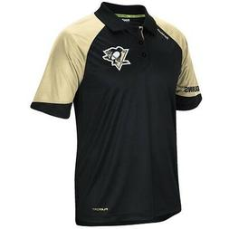 Pittsburgh Penguins Black Center Ice Synthetic Polo