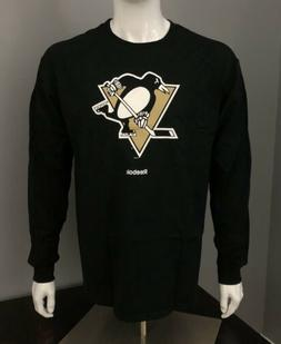 Pittsburgh Penguins Reebok Black Long-Sleeve Logo T-Shirt