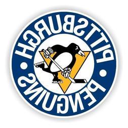 Pittsburgh Penguins  Round Sticker Hockey Die cut Logo Vinyl