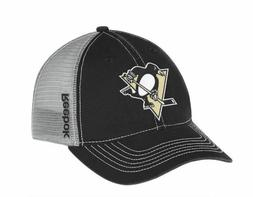 Pittsburgh Penguins Cap Reebok NHL Center Ice Slouch Mesh Ha