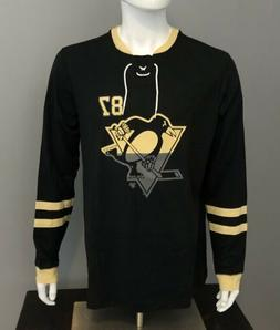 Pittsburgh Penguins Crosby Black Long-Sleeve Shootout T-Shir