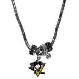 Pittsburgh Penguins Euro Bead Necklace NHL Hockey Licensed R