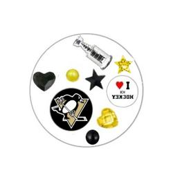 Pittsburgh Penguins Floating Locket Charms and Birthstones