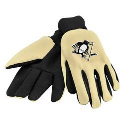 pittsburgh penguins gloves sports logo utility work