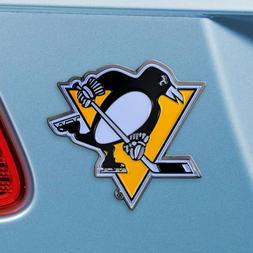 Pittsburgh Penguins Heavy Duty Metal 3-D Color Auto Emblem